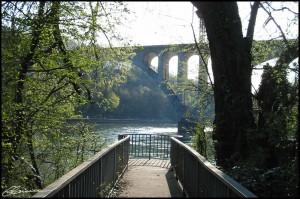 Confluent. (Le Rhône et l'Arve, Genève, Suisse, avril 2003.)