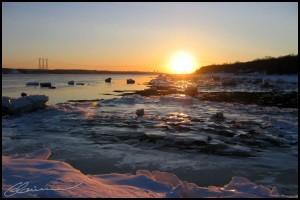 Caresse solaire. (Saint-Laurent, Ile d'Orléans, février 2004.)