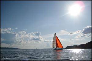 Sunsailing. (Cap Rouge, Québec, juillet 2009)
