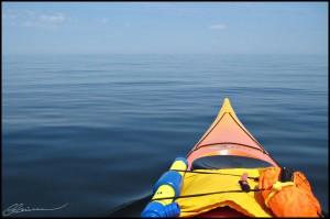 Un fleuve ultra calme... oui c'est possible. (Cloridorme, Québec, juillet 2009)