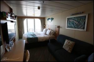 Cabine avec balcon, vue sur mer.